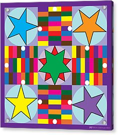 Parcheesi Board Acrylic Print by Eric Edelman