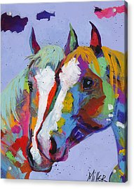 Pardners Acrylic Print by Tracy Miller