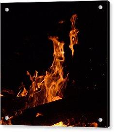 Pareidolia Fire Acrylic Print