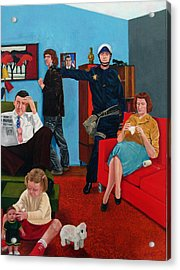 Parenting In The Sixties Acrylic Print by Cecil Williams
