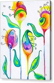 Parfait Space Flowers Acrylic Print
