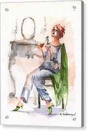 Parfum Acrylic Print by Kristina Vardazaryan