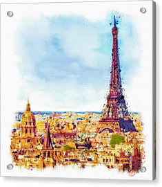 Paris Aerial View Acrylic Print by Marian Voicu