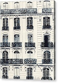 Paris Apartments Haussman Architecture Acrylic Print by Laura Row
