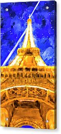 Acrylic Print featuring the mixed media Paris Ascending by Mark Tisdale