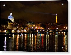 Acrylic Print featuring the photograph Paris At Night by Steven Richman