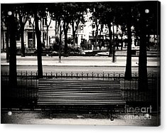 Paris Bench Acrylic Print