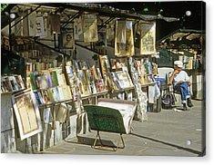 Paris Bookseller Stall Acrylic Print