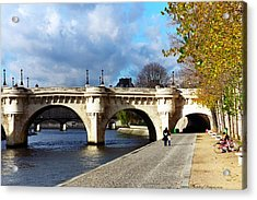 Paris Bridge 0523 Acrylic Print by PhotohogDesigns