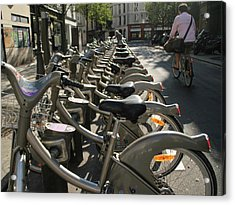 Paris By Bike Acrylic Print by Yoel Koskas