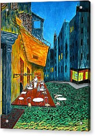 Paris Cafe Acrylic Print by Irving Starr