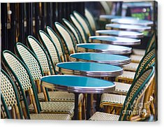 Paris Cafe Acrylic Print by Katya Horner