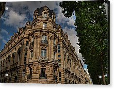 Paris - Champs Elysees 001 Acrylic Print by Lance Vaughn
