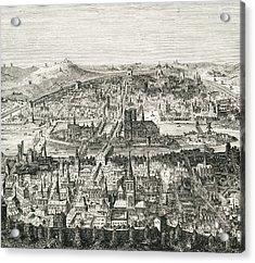 Paris Circa 1610. 19th Century Copy Of Acrylic Print by Vintage Design Pics