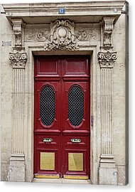 Paris Doors No. 17 - Paris, France Acrylic Print