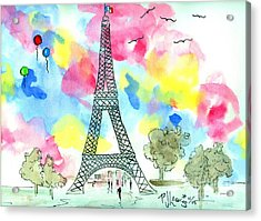 Paris Dreaming Acrylic Print by P J Lewis