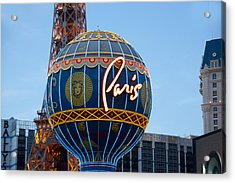 Paris-eifel Tower-las Vegas Acrylic Print by Neil Doren