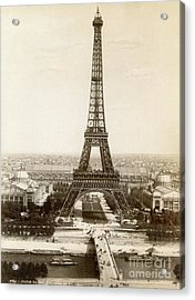 Paris: Eiffel Tower, 1900 Acrylic Print by Granger