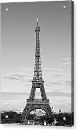 Paris Eiffel Tower Monochrome Acrylic Print by Melanie Viola
