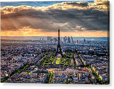 Paris From Above Acrylic Print by Tim Stanley