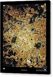 Acrylic Print featuring the photograph Paris From Space by Delphimages Photo Creations