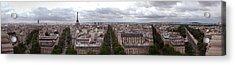 Paris From The Arch De Triumph Acrylic Print by Robert Ponzoni