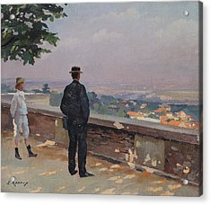 Paris From The Observatory At Meudon Acrylic Print by Jules Ernest Renoux
