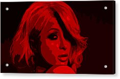 Paris Hilton Acrylic Print by Brian Reaves