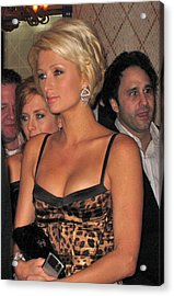 Paris Hilton  Acrylic Print by Michael Albright