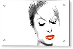 Paris Hilton Just Me Acrylic Print by Brian Reaves