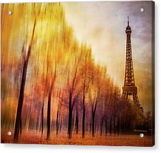 Paris In Autumn Acrylic Print