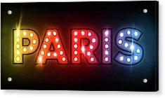 Paris In Lights Acrylic Print