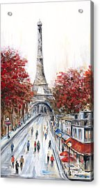 Paris In The Fall Acrylic Print by Marilyn Dunlap