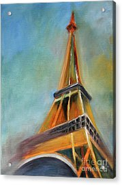 Paris Acrylic Print by Jutta Maria Pusl