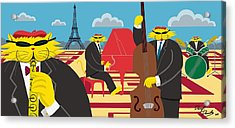 Paris Kats - The Coolkats Acrylic Print by Darryl Glenn Daniels