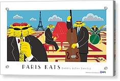 Paris Kats Acrylic Print