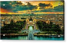 Paris Landscape Acrylic Print by Vincent Monozlay