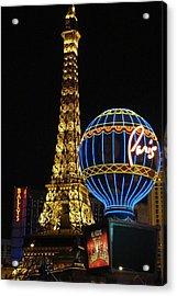 Paris Las Vegas Acrylic Print by Kimberly Hill