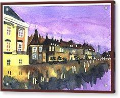 Paris Lights Acrylic Print by Jane Croteau
