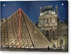 Paris Louvre Acrylic Print by Juli Scalzi