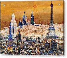 Paris Acrylic Print by Lynda Payton