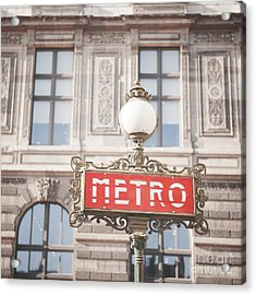 Paris Metro Sign Architecture Acrylic Print