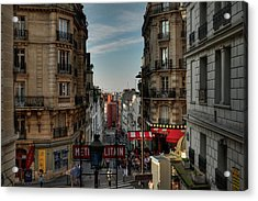 Acrylic Print featuring the photograph Paris - Montmartre Streetscape 004 by Lance Vaughn