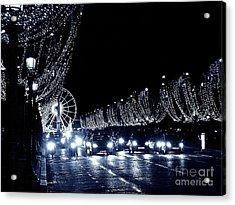 Paris Night Acrylic Print by Yury Bashkin