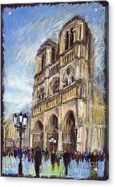 Paris Notre-dame De Paris Acrylic Print
