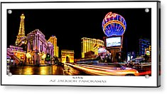 Paris On The Strip Poster Print Acrylic Print