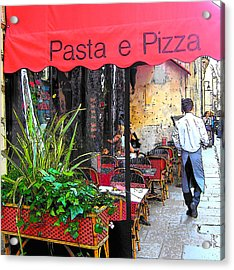 Paris Pasta And Pizza Shop Acrylic Print by Jan Matson