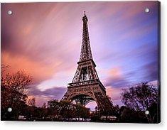 Paris Pastels Acrylic Print by Jennifer Casey