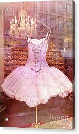 Paris Pink Ballerina Tutu - Paris Pink Ballerina Tutu Acrylic Print by Kathy Fornal