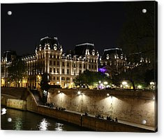 Acrylic Print featuring the photograph Paris Police Headquarters by Andrew Fare